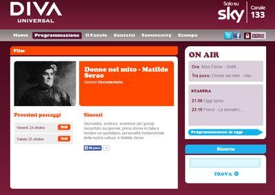 Antonella cilento matilde serao il documentario su sky - Diva futura su sky ...